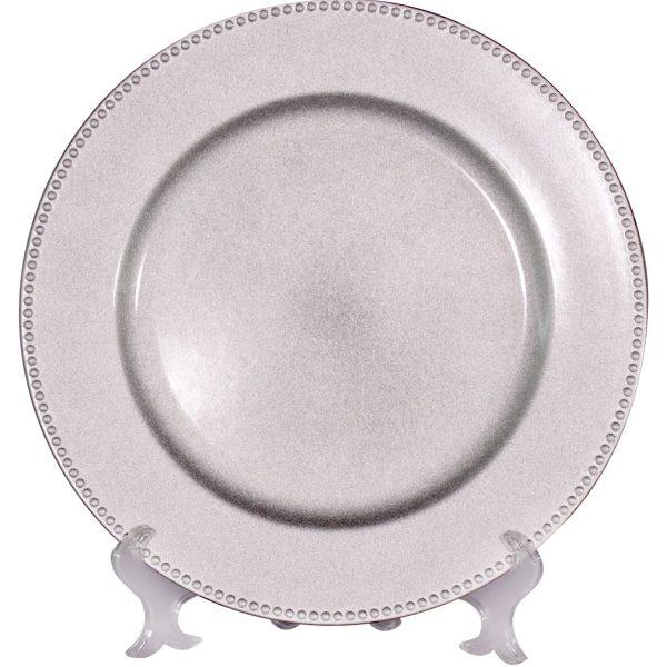 Bajo plato sencillo plata