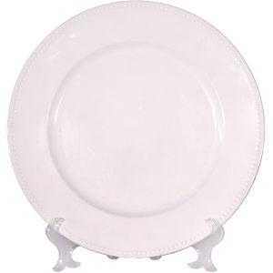 Bajo plato sencillo blanco