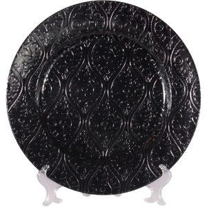 Bajo plato sencillo negro