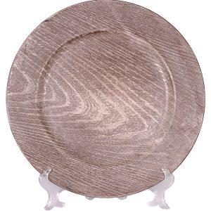 Bajo plato sencillo rústico