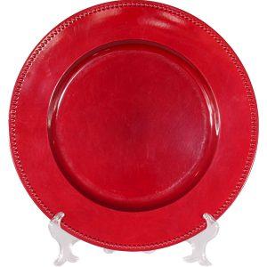 Bajo plato sencillo rojo