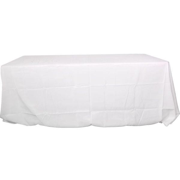 Mantel rectangular poliester blanco