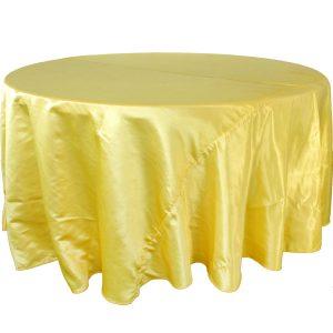 Mantel redondo satín amarillo