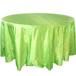 Mantel redondo satín verde fosforescente