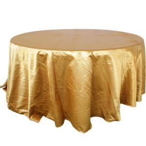 Mantel redondo satín dorado