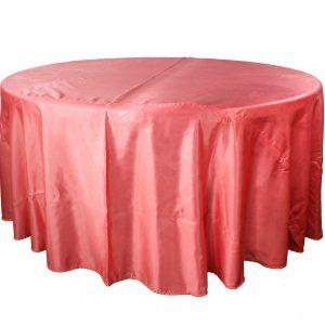 Mantel redondo satín coral