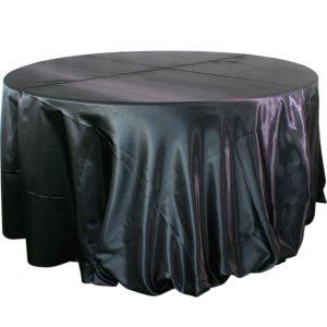 Mantel redondo satín negro