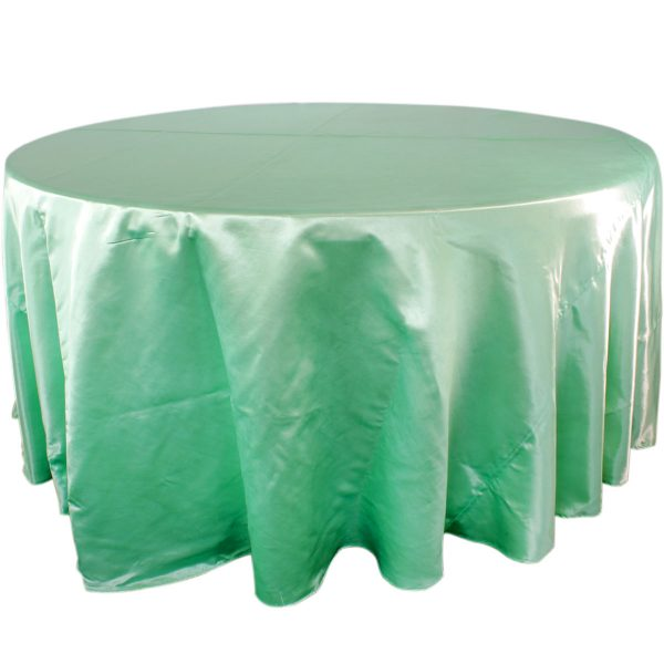 Mantel redondo satín verde menta