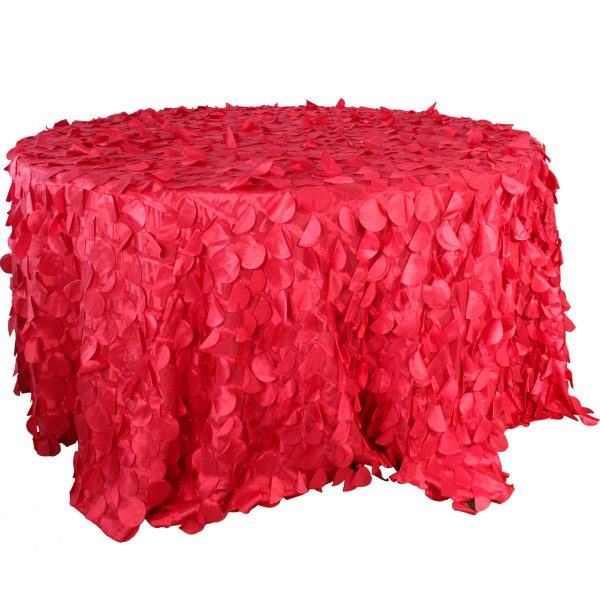 Mantel redondo petalos rojo