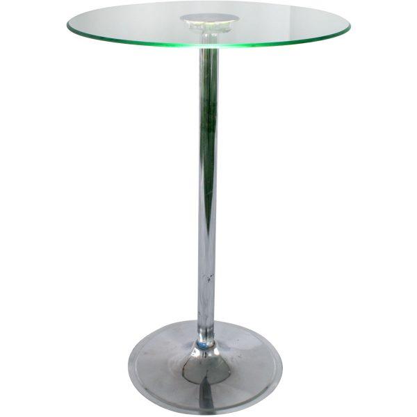 Mesa periquera de cristal con luz led