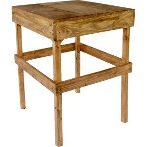 mesa periquera rústica para 4 personas