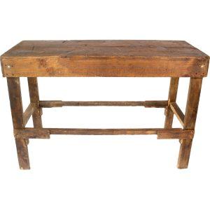 mesa periquera rústica para 6 personas