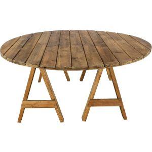 Mesa rústica redonda (12 personas)