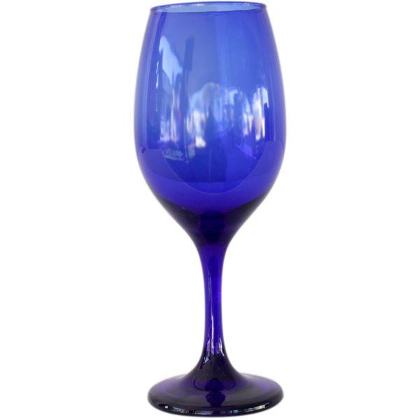 Copa de vino cobalto