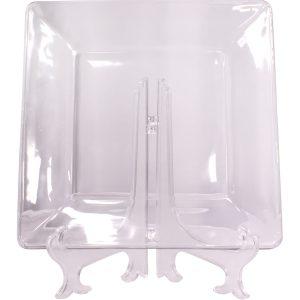 Plato ensalada o postre cristalino